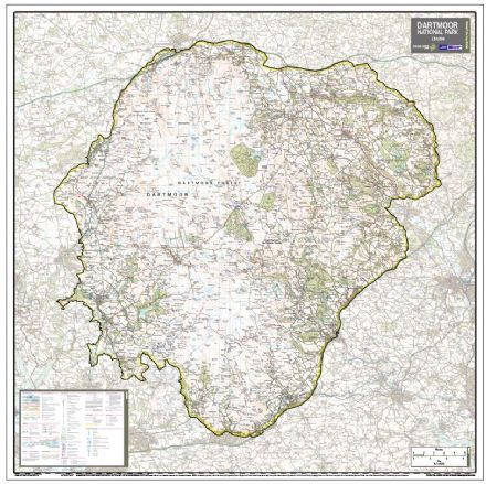 Dartmoor National Park - Wall Map